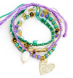 Pulsera Hilos Macrame Corazon Cruz  | TIENDA ONLINE www.dulceencanto.com #pulseras #accesorios #colombia
