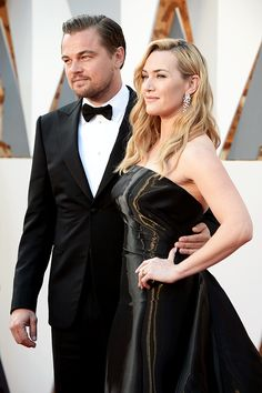 """missnu93: """"  Leonardo DiCaprio and Kate Winslet attend the 88th Academy Awards Ceremony """""""