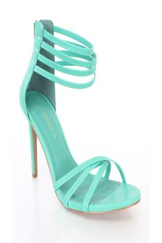 Seagreen Open Toe Strappy Ankle Summer Cute Single Soles Faux Leather