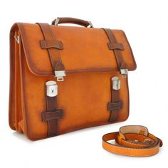 """Pratesi """"Vallombrosa"""" men's leather briefcase with laptop compartment Made in Italy €639.00"""