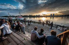 Zomer van Antwerpen - zonsondergang