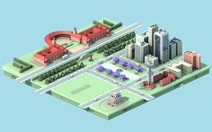 Low poly South African cities on Behance