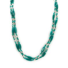 Chan Luu Semi Precious Stone and Crystal Necklace #VonMaur