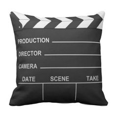 Lights Camera Action - Pillow Nice for a theater room Best Home Theater, Home Theater Setup, Home Theater Speakers, Home Theater Seating, Home Theater Projectors, Movie Theater Rooms, Cinema Room, Movie Rooms, Tv Rooms