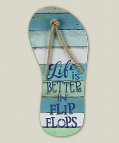 Another great find on #zulily! 'Life Is Better' Wall Art #zulilyfinds