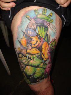 Wolverine vs hulk tattoo