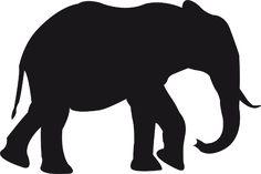 silueta de elefante - Buscar con Google