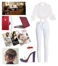 """Untitled #5064"" by originaltwfan ❤ liked on Polyvore featuring Christian Louboutin, Barbour, Johanna Ortiz and Speck"