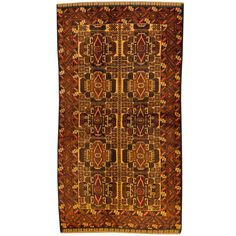 Herat Oriental Afghan Hand-knotted Tribal Balouchi / Rust Rug