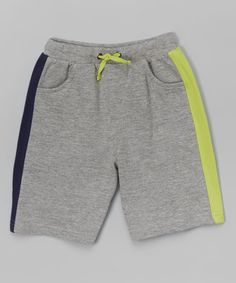 Loving this Heather Gray Stripe Shorts - Infant, Toddler & Boys on #zulily! #zulilyfinds