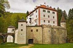 Castle SnežnikinLoška Dolina, Slovenia.