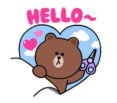 LINE Official Stickers - Brown & Cony Heart Melting Romance Example with GIF Animation Cute Love Pictures, Cute Love Gif, Cute Love Memes, Cute Couple Cartoon, Cute Love Cartoons, Chibi Cat, Cute Chibi, Hi Gif, Bear Gif
