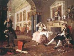 William Hogart. Muodikas avioliitto, 1743, öljy kankaalle, 70 x 90 cm