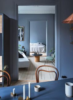 Inside the couple's Oslo apartment and shop.