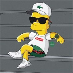 "12.6 mil curtidas, 92 comentários - Olga Wójcik | graphic designer (@machonis) no Instagram: ""CHILLIN' ___________________ #TheSimpsons #Simpsons #BartSimpson #summer #chillin #chillout…"""