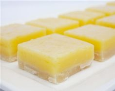 Lemon bites on buttery shortbread crust