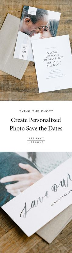 See what's new from @artifactuprsng: Our line of premium quality Save the Dates can be customized on both sides to include a photo and the details of your wedding day. Printed on thick 100% recycled paper.