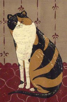 WARREN KIMBLE CALICO STRIPED CAT