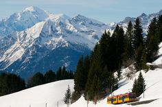 Train to Bretaye Snow Place, Nice View, Switzerland, Cosy, Mount Everest, Landscapes, Train, Mountains, Places