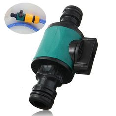 Doule Way Garden Plastic Hose Pipe Quick Connector With Valve Tube Fittings