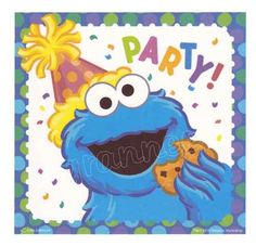 COOKIE MONSTER SESAME STREET BIRTHDAY Edible Image® CAKE DECORATING TOPPER