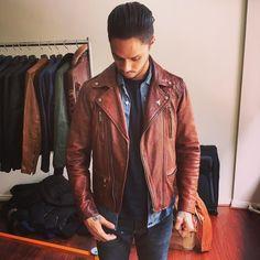 41 Best Vintage Brown Leather Jacket images | Clothing
