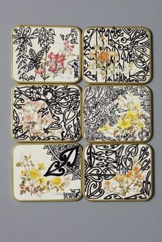 Tracey Tawhiao coasters, from Katie Lockhart's 'Everyday needs' (via Things I like, Things I love)