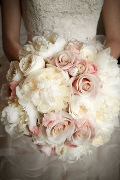 Peonies and roses...one of my all time favorite bouquets. I love the open roses, but would pair down the size of this bouquet. Wedding Bouquet Ideas (BridesMagazine.co.uk)