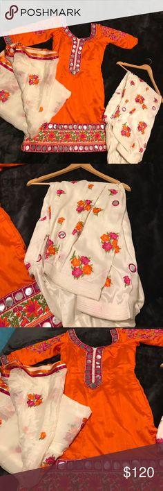 Orange and white salwar suit Orange and white salwar suit Dresses