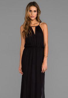 Mink Pink Glamourama Maxi Dress in Black