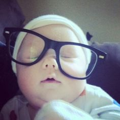 baby with glasses. This is baby Bee and below her photo is a letter to her written by her Mummy (a first-time Mum, I should add). And it is well worth a read, as are her others which also have sweet photos of Bee.