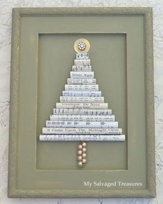 Vintage Sheet Music Christmas Tree                                                                                                                                                     More