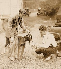 "In the 1920's Syracuse University football had a four-footed mascot, Vita the Goat. Vita made appearances at the games in Archbold Stadium, often dressed for the occasion wearing signage such as ""Beat Colgate"". The 1925 Onondagan notes that the goat was ""held in leash by freshman guardians"" during the games. Courtesy Syracuse University Archives."