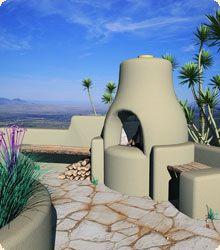 Kiva fireplaces | Outdoor Flatwall Orno Kiva Fireplace Kit | Ideas ...