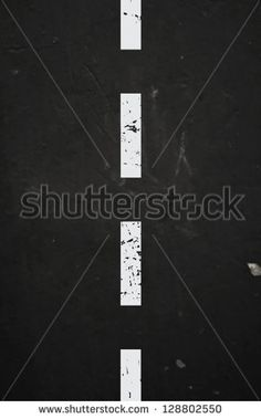 Vector textured asphalt road with cracked white dashed marking