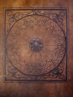 old world design on ceiling