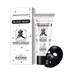80g Unisex Face Skin Care Bamboo Charcoal Black Mud Mask Remove Blackhead Acne Face Moisturizing Deep Clean Peel Off Mud Masks #Affiliate
