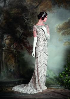 Vintage inspired Wedding Dresses - The Debutante Collection from Eliza Jane Howell - http://www.elizajanehowell.com/ - violet dress - Photography - Chris Dawes http://www.chrisdawes.com