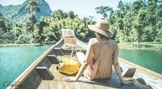 Young woman traveler on longtail boat trip at island hopping in Cheow Lan Lake - Wanderlust and travel concept with adventure girl tourist wanderer on excursion in Thailand - Retro turquoise filter Funchal, Krabi, Phuket, Travel Goals, Travel Tips, Travel Hacks, Travel Essentials, Travel Ideas, Travel Destinations