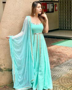 Colors which make us more brighter Price DM Fabric rayon Party Wear Indian Dresses, Designer Party Wear Dresses, Indian Gowns Dresses, Party Wear Lehenga, Kurti Designs Party Wear, Dress Indian Style, Indian Designer Outfits, Indian Outfits, Lehenga Wedding