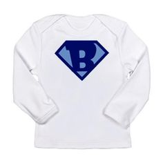 Super Hero Letter B Long Sleeve T-Shirt