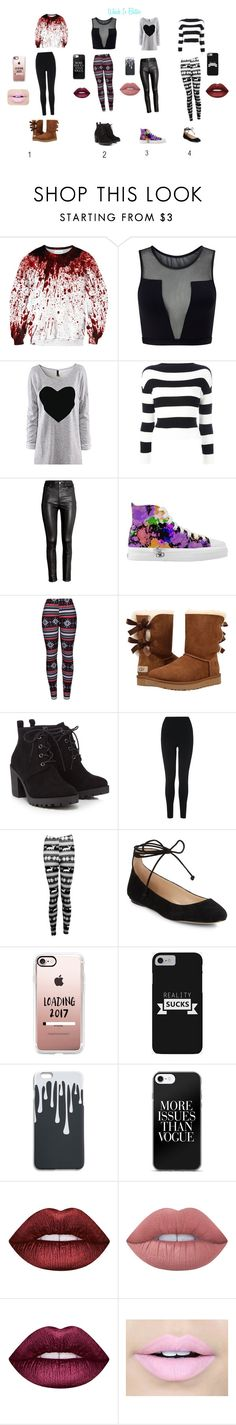 """""""WHICH IS BETTER"""" by explorer-14851943379 on Polyvore featuring Varley, Boutique Moschino, H&M, WithChic, UGG, Red Herring, L.K.Bennett, Boohoo, Karl Lagerfeld and Casetify"""