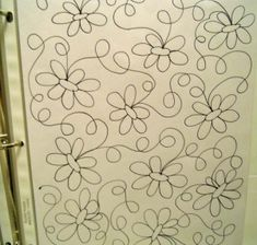 continuous line free motion quilting flowers