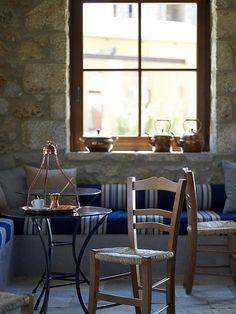 Kafeneio at costa navarino, greece