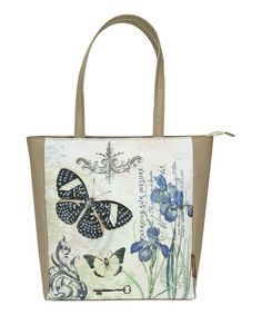 Love this Cream Butterfly Commuter Tote by Passion for Fashion on #zulily! #zulilyfinds