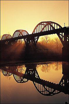 Cotter Bridge over the White River; Cotter, Arkansas