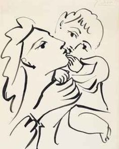 Pablo Picasso, Mother and child
