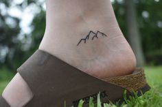 mountain tattoo. Small tattoo