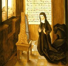 """Hildegard von Bingen:  As a child, she was offered by her parents as a tithe to the Catholic Church.  She triumphed to become a powerful abbess, prophet, musical composer, as well as a literary and scientific writer.  Hildegard received beatification by the Catholic Church but not """"yet"""" cannonized as a saint."""
