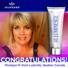 Share to congratulate this week's Free Masque Monday winner, Monique! Check back often for your chance to win your favorite products from #Jeunesse ッ